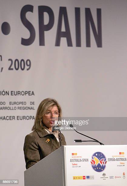 Spanish Parliamentary Secretary of State for Trade Silvia Iranzo speaks at the Australia Spain Business Forum at the ShangriLa Hotel on June 26 2009...