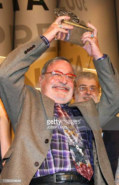"Spanish philisopher Fernando Savater poses after winning the Planeta literature award for his book ""La hermandad de la buena suerte"" in Barcelona, on..."
