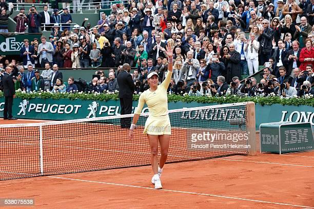 Spanish player Garbine Muguruza won Roland Garros during Day Fourteen Women single's Final of the 2016 French Tennis Open at Roland Garros on June 4...
