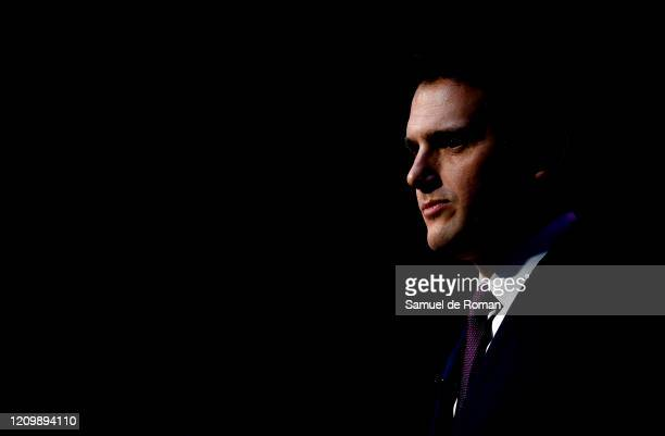 Spanish politician Albert Rivera attends 'Martinez Echevarria' press conference on March 02 2020 in Madrid Spain