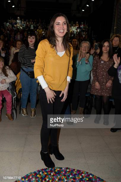 Spanish Politician Irene Montero takes part in the Womens Symposium on January 9 2019 in Madrid Spain During her first political appearance since the...