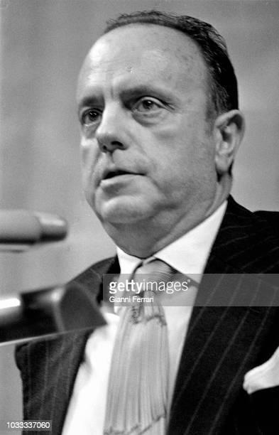 Spanish Politician Manuel Fraga Iribarne president of the PP Partido Popular 1977 Madrid Spain