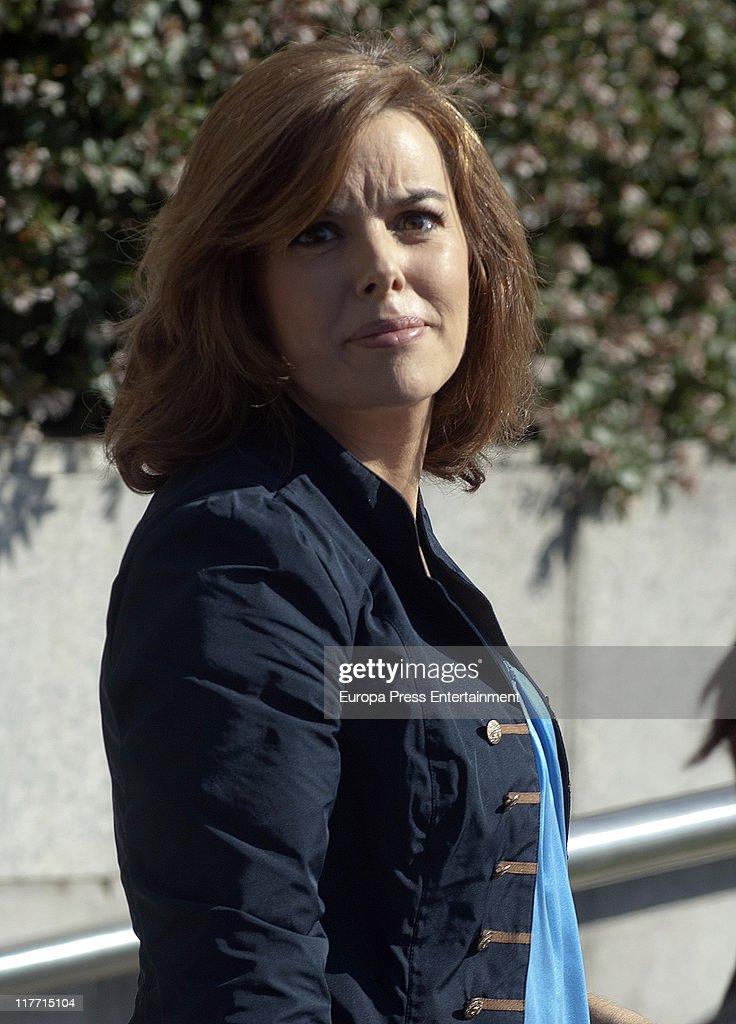 Soraya Saez de Santamaria Sighting in Madrid - June 30, 2011 : News Photo