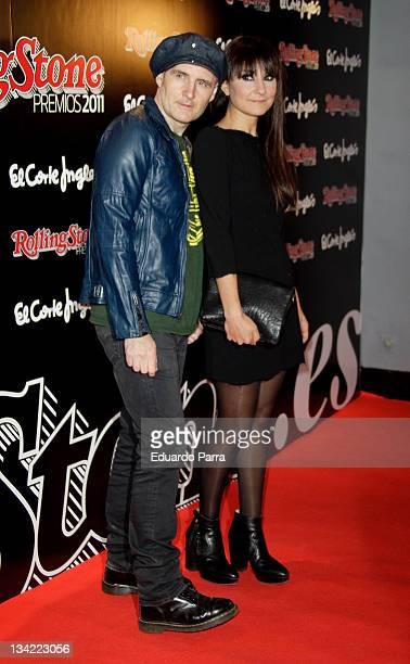 Spanish pop band Amaral attends Rolling Stone awards 2011 at Pacha disco on November 28 2011 in Madrid Spain