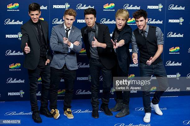 Spanish pop band Auryn attends the '40 Principales Awards' 2013 photocall at Palacio de los Deportes on December 12 2013 in Madrid Spain