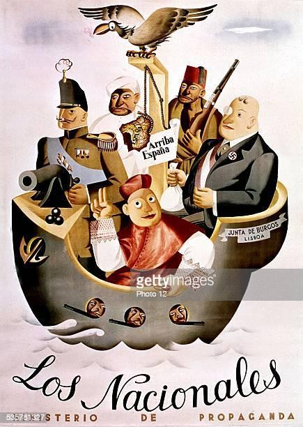 Spanish poster against Franco Spanish war