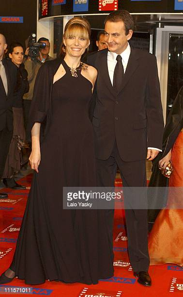 Spanish Prime Minister Jose Luis Rodriguez Zapatero and wife Sonsoles Espinosa