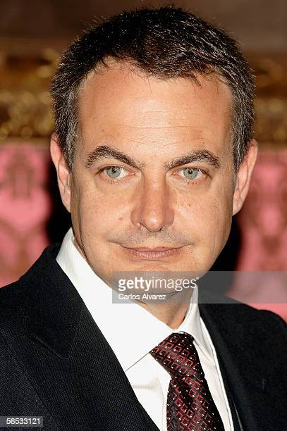 Spanish Prime Minister Jose Luis Rodriguez Zapatero attends the annual 'Pascua Militar' day at the Palacio Real on January 6 2006 in Madrid Spain The...