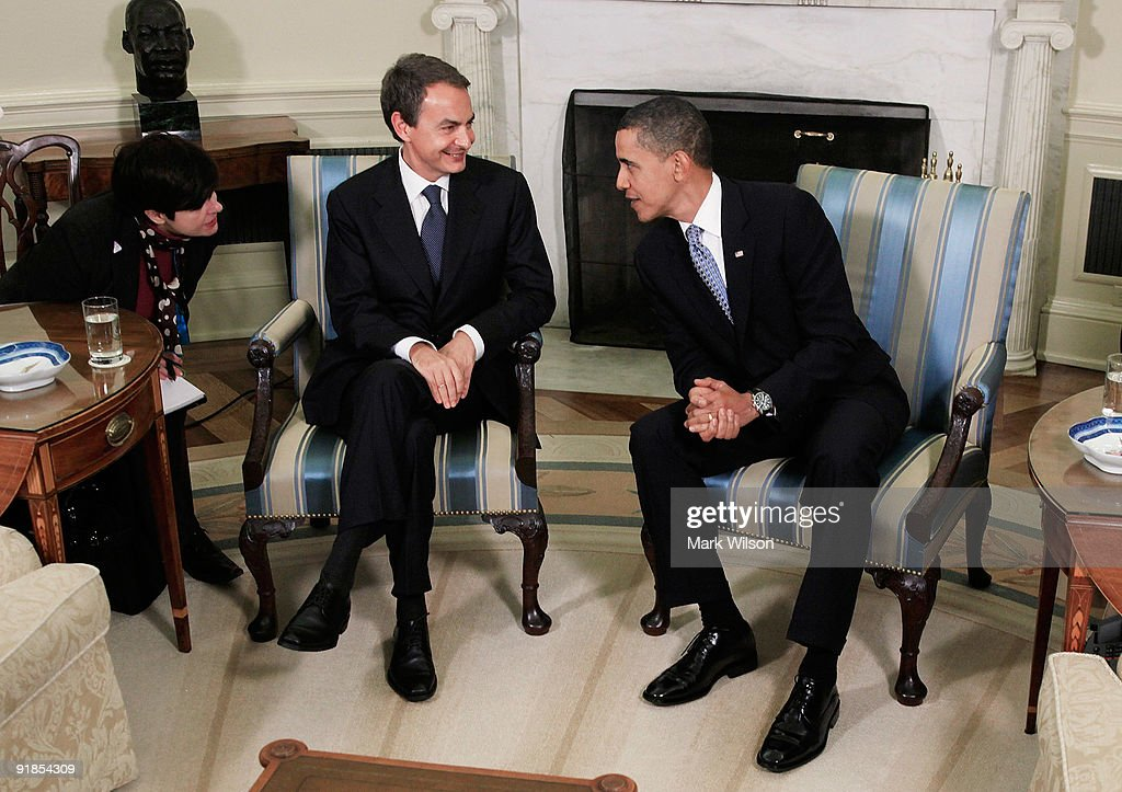 Obama Meets With Spanish Prime Minister Zapatero At White House