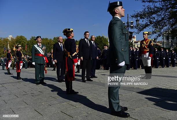 Spanish Prime Minister Mariano Rajoy attends a military ceremony in honnour of the Spanish Guardia Civil in Madrid on November 6 2015 AFP PHOTO/...
