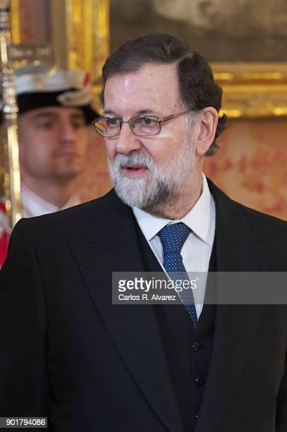 Spanish Prime Minister Mariano Rajoy attends the Pascua Militar ceremony at the Royal Palace on January 6 2018 in Madrid Spain