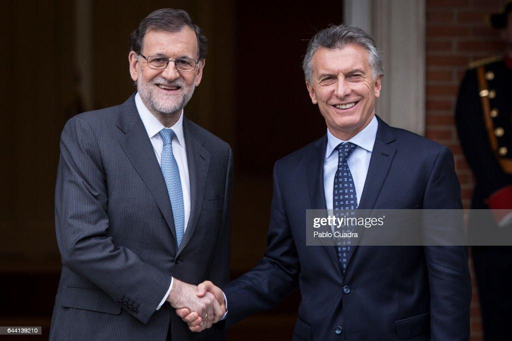 Mariano Rajoy Meets President of Argentina At Moncloa Palace : ニュース写真