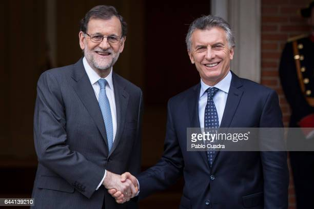 Spanish Prime Minister Mariano Rajoy meets President of Argentina Mauricio Macri at Moncloa Palace on February 23, 2017 in Madrid, Spain. Argentinian...