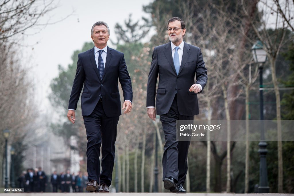 Mariano Rajoy Meets President of Argentina At Moncloa Palace