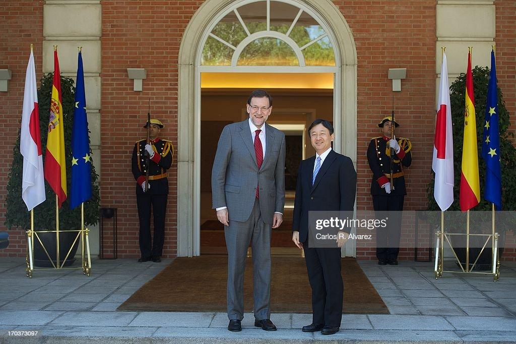 President Mariano Rajoy Meets Japanese Crown Prince Naruhito