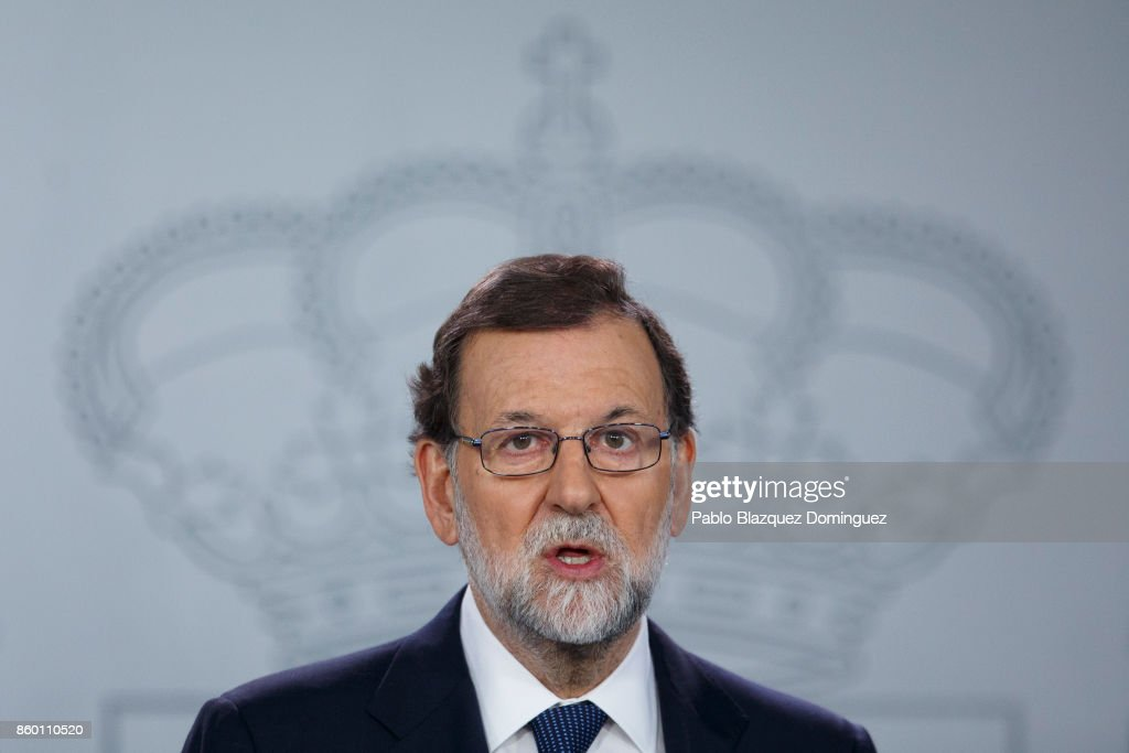 Spanish Prime Minister Mariano Rajoy Holds Crisis Meeting On Catalan Independence