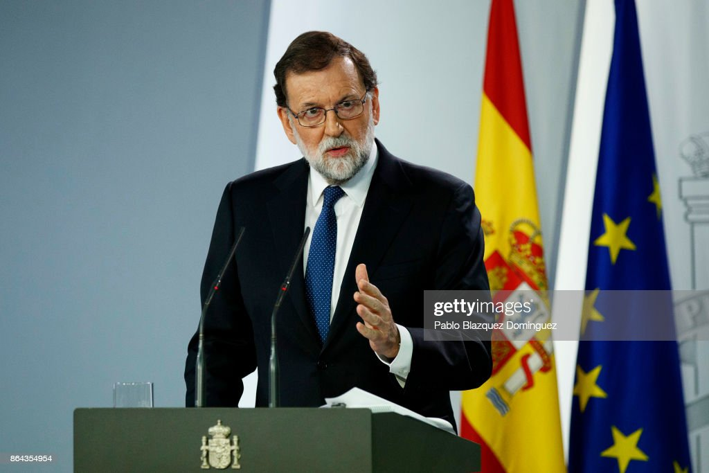 Spanish Extraordinary Cabinet Session To Take Measures Against Catalonia's Independence : News Photo