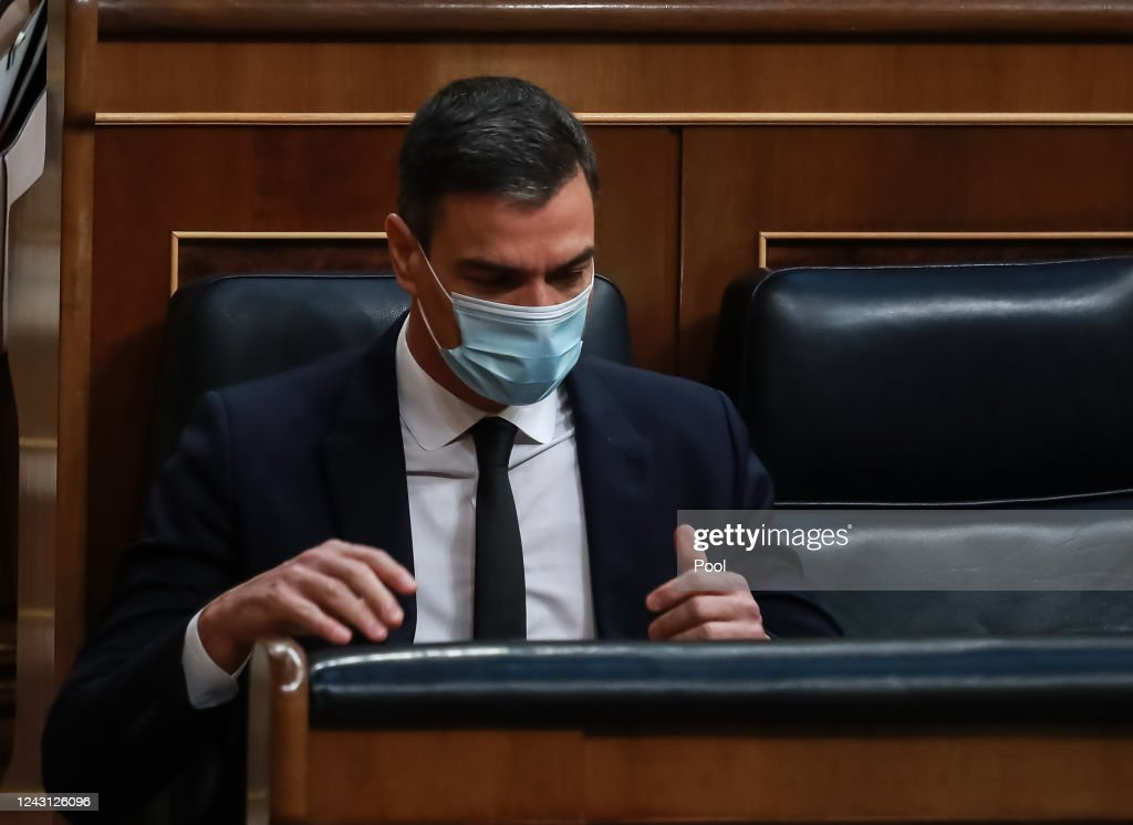Debate On Extension Of The State Of Emergency At The Spanish Parliament : News Photo