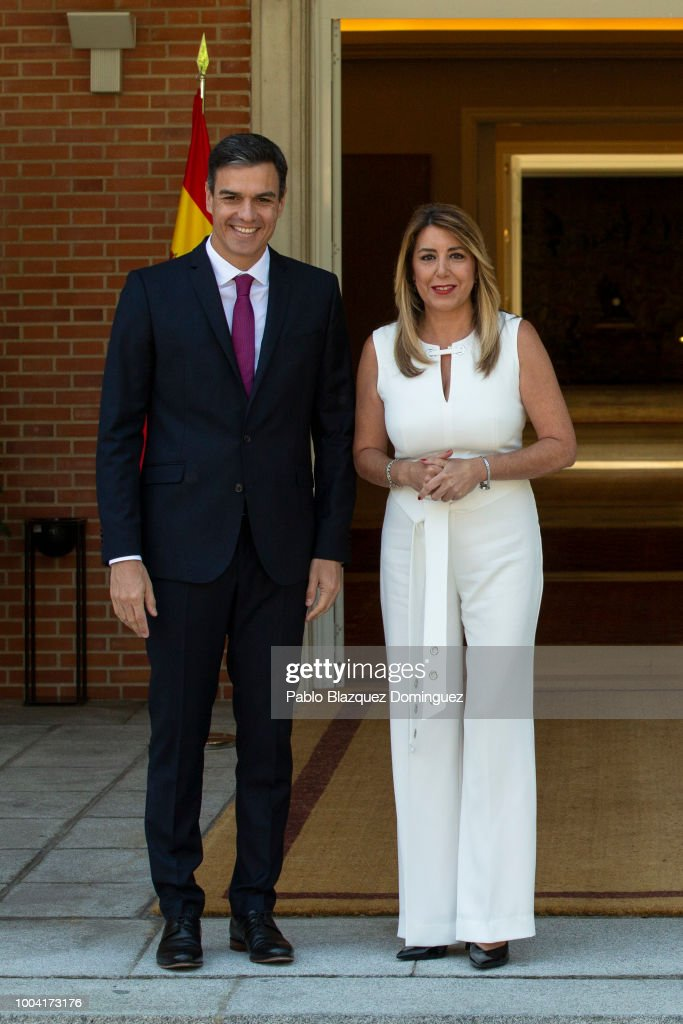 Spanish Prime Minister And Andalusia's Regional President Meet At Moncloa Palace