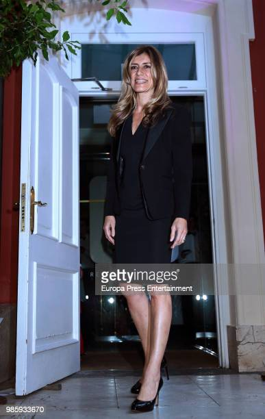 Spanish Prime Minister's wife Begona Gomez attends the charity dinner #Africaenlapiel to raise funds for albinism people in Tanzania on June 27 2018...