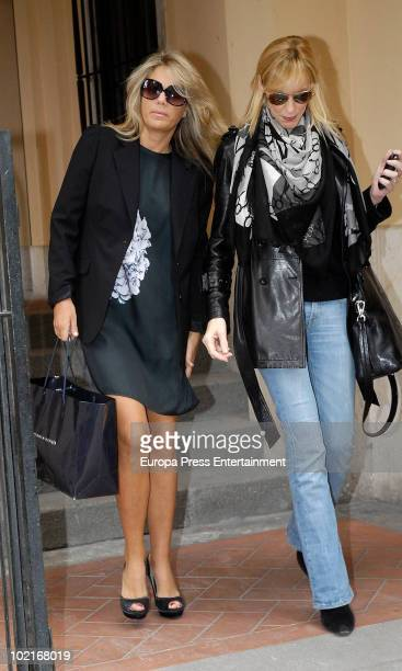 Spanish Prince Felipe's ex girlfriend Isabel Sartorius and Mamen Diaz are sighted on June 17 2010 in Madrid Spain