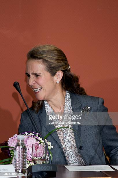 Spanish Princess Elena attends a meeting with Spanish Olympic Committee in Escuela Superior de Deportes on December 17, 2009 in Madrid, Spain.