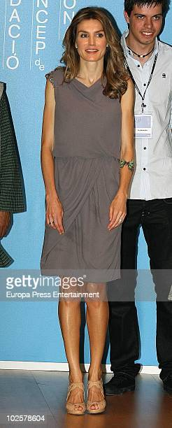 Spanish Princess Letizia attends the 'Impulsa Forum' on July 1 2010 in Gerona Spain