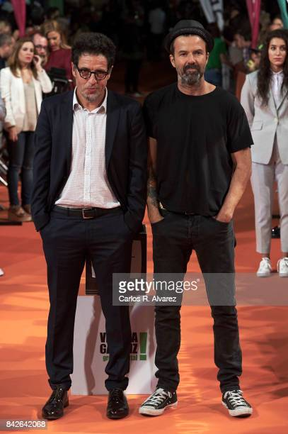 Spanish producer Daniel Ecija and singer Pau Dones attend 'Estoy Vivo' premiere during the FesTVal 2017 at the Principal Teather on September 4 2017...