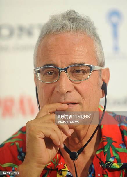 Spanish producer Luis Minarro attends the press conference to present the film ''La lapidacio de Sant Esteve'' in competition at the 47th Karlovy...