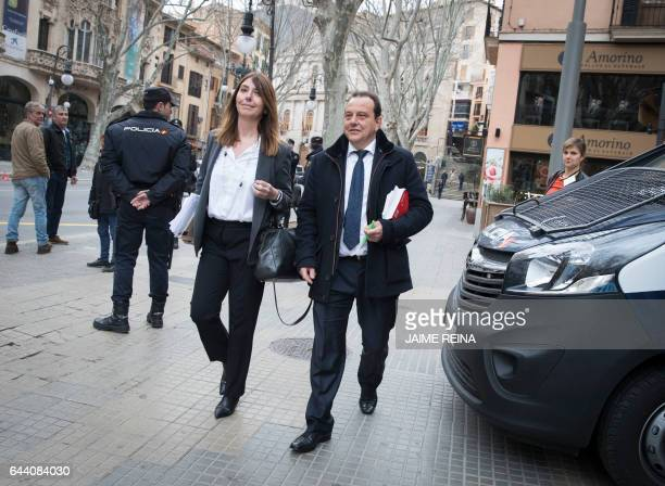 Spanish Public prosecutors Pedro Horrach and Ana Lamas arrive to the courthouse in Palma de Mallorca on the Spanish Balearic Island of Mallorca on...