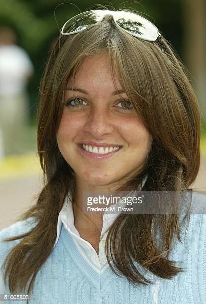 Spanish recording artist Millie Corretjer attends the Fifth Annual Oscar De La Hoya Golf Classic at the North Ranch Country Club on June 28 2004 in...