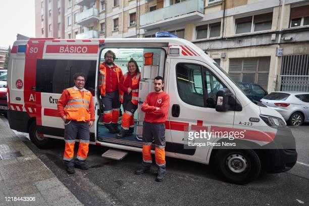 Spanish Red Cross aid post in Burlada that provides support for 2 emergency ambulances in the Pamplona area during the confinement imposed by the...