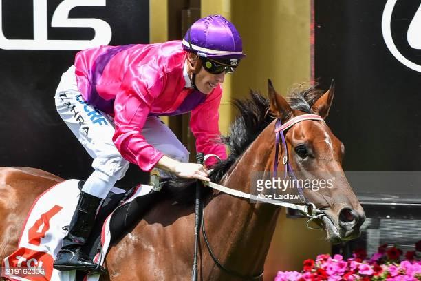 Spanish Reef ridden by Mark Zahra wins TCL TV Handicap at Flemington Racecourse on February 17 2018 in Flemington Australia
