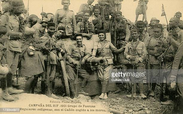 Spanish Regulares around a Berber canon captured in the Rif War 1921 The Regulares is a Spanish army division made up of Moroccan volunteers