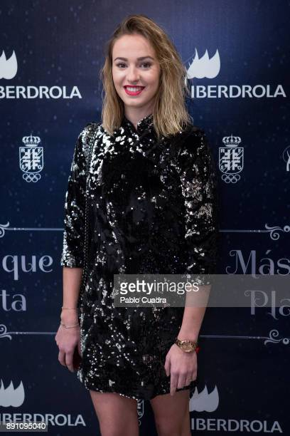 Spanish rhythmic gymnast Elena Lopez presents 'Mas Que Plata' documentary film at 'Circulo de Bellas Artes' cinema on December 12 2017 in Madrid Spain