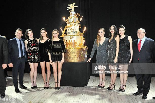 Spanish Rhythmic Gymnastics team attend a press presentation of the Freixenet Cava Christmas advertisment 2015 on November 25 2015 in Barcelona Spain