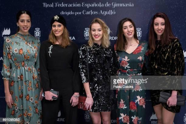 Spanish rhythmic gymnasts Alejandra Quereda Lourdes Mohedano Elena Lopez Sandra Aguilar and Artemi Gavezou present 'Mas Que Plata' documentary film...
