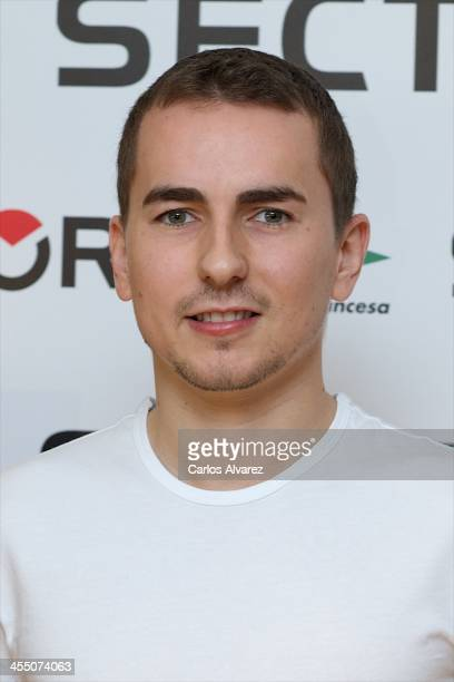 Spanish rider Jorge Lorenzo presents the 'Projecting The 2014 Season' at the Corte Ingles Princesa store on December 11 2013 in Madrid Spain