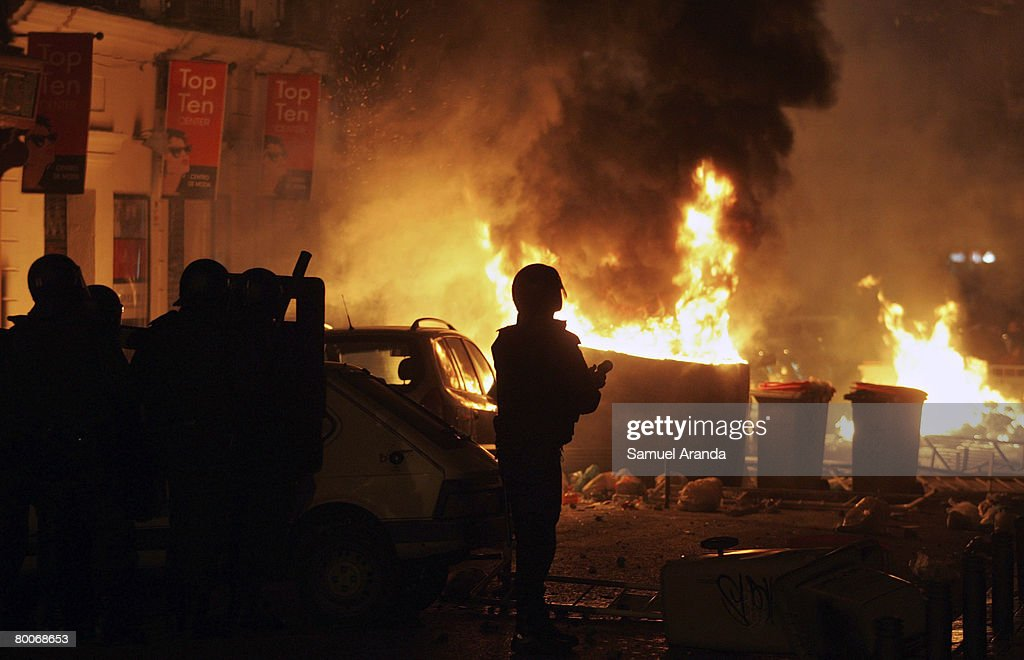 Extreme Right Riots In Madrid : News Photo