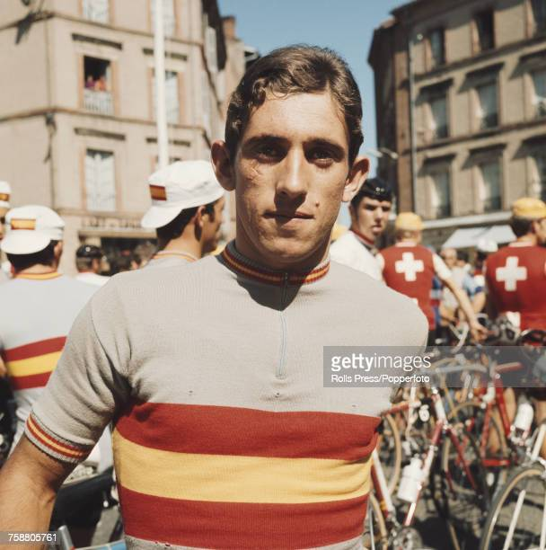 Spanish road racing cyclist Jose Viejo pictured during competition in a road race in France in September 1971 Jose Viejo would compete in the Tour de...