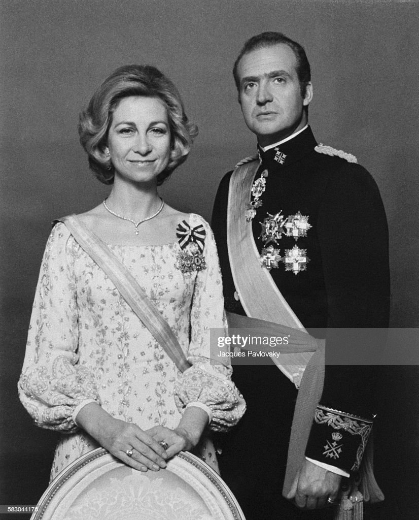 Queen Sofia and King Juan Carlos. | Location: Madrid, Spain.