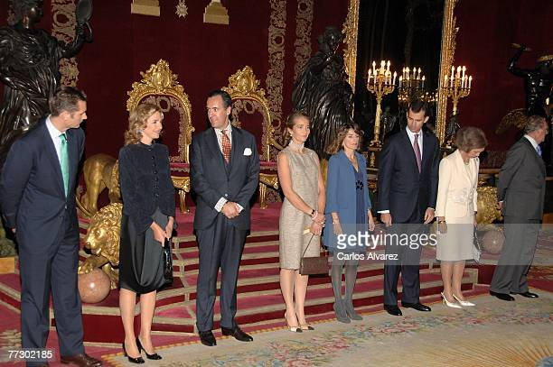 Spanish Royal Family Inaki Urdangarin Princess Cristina of Spain Jaime de Marichalar of Spain Princess Elena of Spain Princess Letizia of Spain...