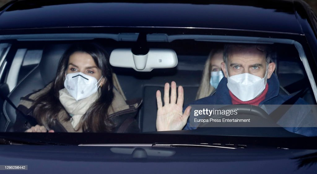 Spanish Royals Visit Queen Letizia's Father : News Photo
