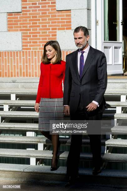 Spanish Royals attend a meeting for the commemoration of the First Expedition of Fernando de Magallanes and Juan Sebastian Elcano at the Zarzuela...