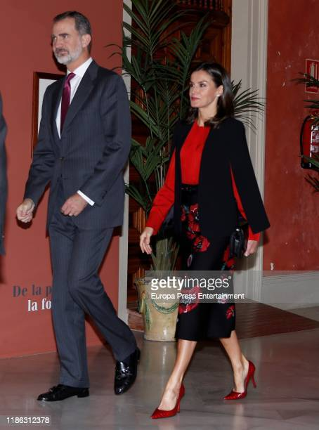 Spanish Royals attend XVI Congress of the Association of Academies of the Spanish Language on November 08 2019 in Seville Spain