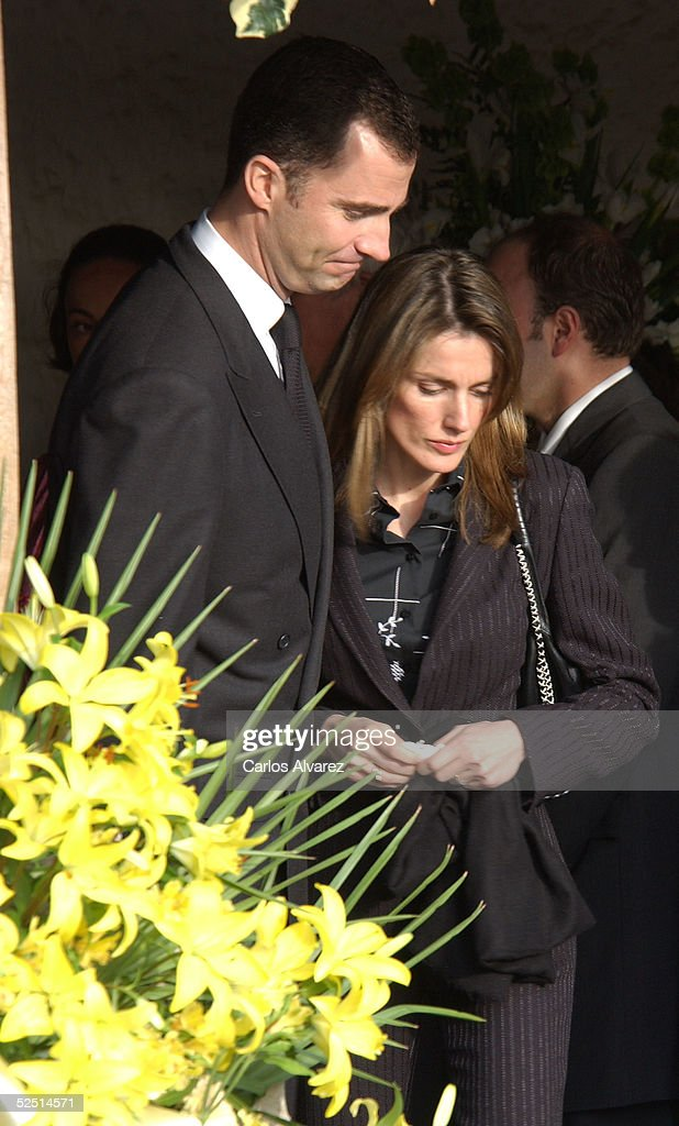 Spanish Royals Attend Funeral Of Princess Letizia's Grandfather : News Photo
