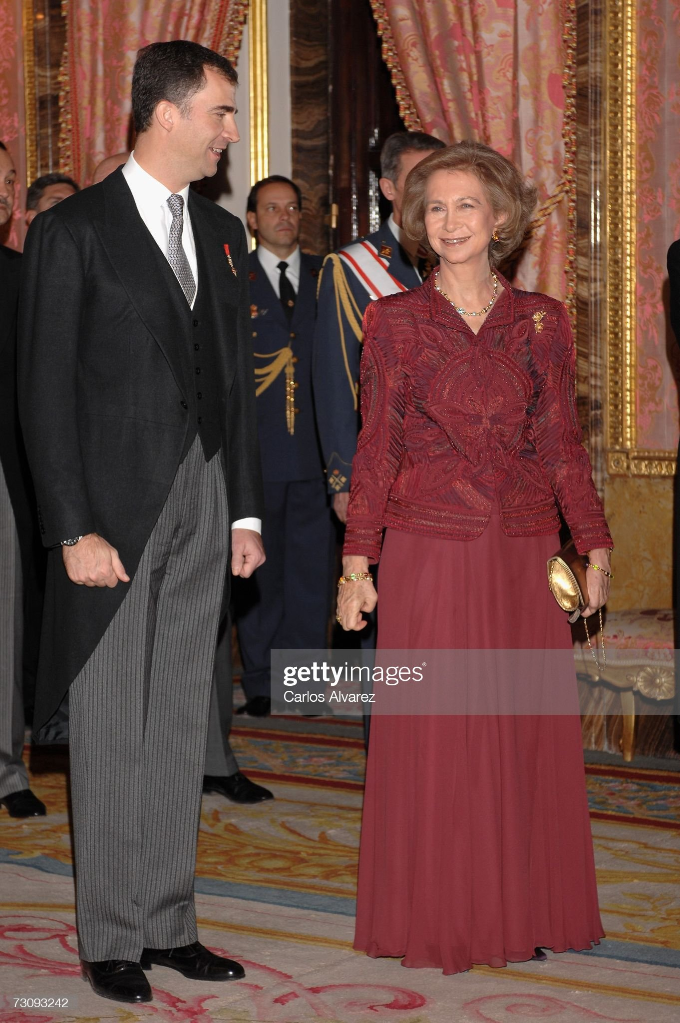 Spanish Royals Receive Foreign Diplomats At Royal Palace : News Photo