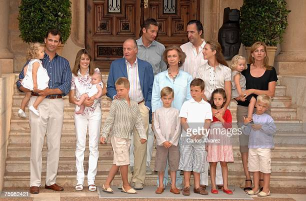 Spanish Royals Family Princess Leonor Crown Prince Felipe Princess Letizia Princess Leonor King Juan Carlos Juan Valentin Inaki Urdangarin Queen...