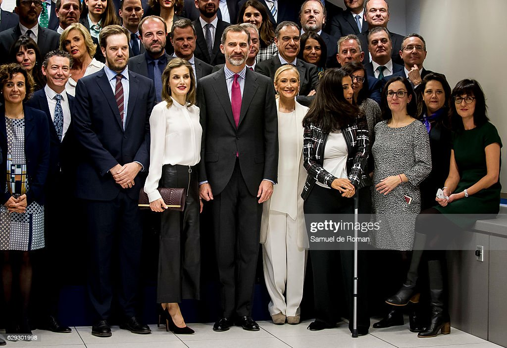 Spanish Royals Visit Zeta Group On Its 40th Anniversary : News Photo