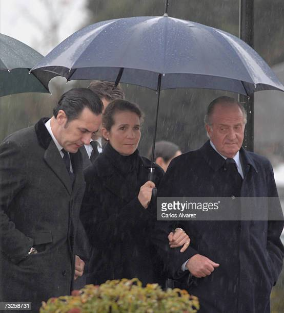Spanish Royals Jaime de Marichalar the husband of Princess Elena and King Juan Carlos attend the funeral for Erika Ortiz younger sister of Princess...
